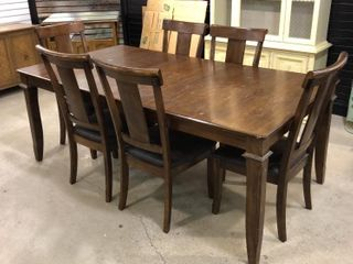 Dining Table with 6 Chairs and leaf