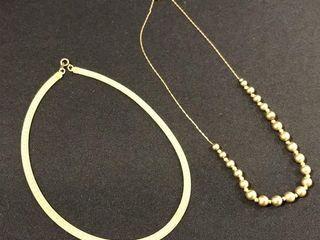 2  Gold color Necklaces