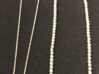 2 Silver Necklaces