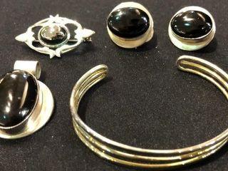 Bracelet  Earrings  Charm and Brooch