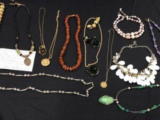 Assorted Necklaces  Pendants  Earrings