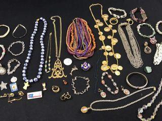 large Assortment Necklaces  Pins  Bracelets