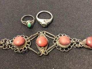 Bracelet and 2 Rings