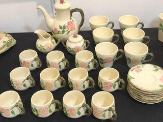 Desert Rose Franciscan Coffee Mug Set