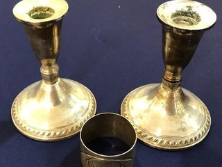 2  Sterling Silver Candle Holder