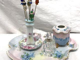 Bedside Glassware  Perfume Bottle  etc