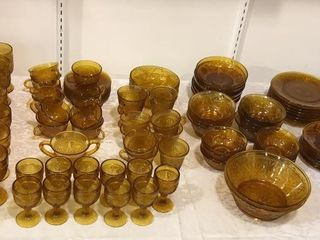 large Selection of Amber Glassware