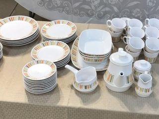 Noritake Orange   White 12 Place Set