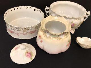 White   Gold Rose Glassware
