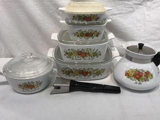 Corning Ware Vegetable Design Matching Set