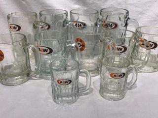 11  A W Root Beer Mugs