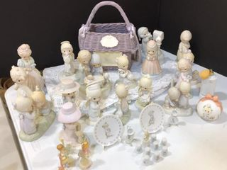 large Selection of Precious Moments Figures