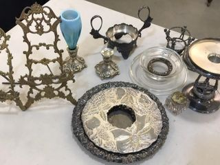 Misc  Silver Plate  Picture Holders  Platter