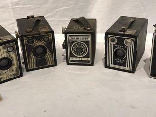 5 Vintage Box Cameras