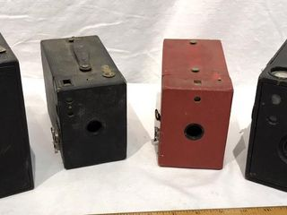 4 Vintage Box Cameras