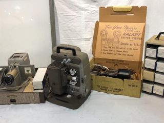 2 Vintage Projectors  Slide Editor  Slides  and