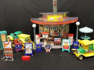 Hallmark Diner and Retro Gas Pump