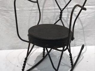 Antique Metal Doll Rocking Chair