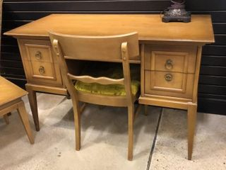 Mid Century Ensemble with Writing Desk   Chair