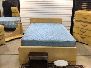 Mid Century  3  Piece Blonde Bedroom Set