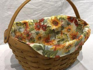 longaberger Sunflower Basket w  Handle  2007