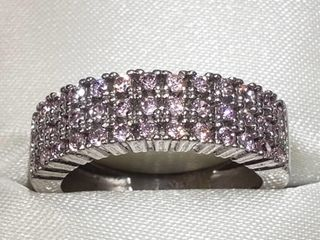 Silver Cubic Zirconia Ring (~Size 7.5) (BK06-112)