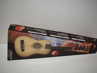 New Small Acoustic Guitar with Strap