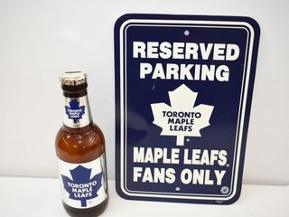 "Toronto Maple Leaf Sign 12X18"" & Bank 14""tall"