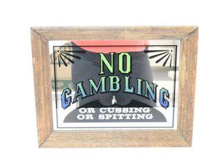 No Gambling Sign 11  X14