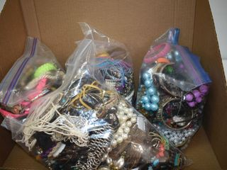 (4) Bags of Assorted Jewelry