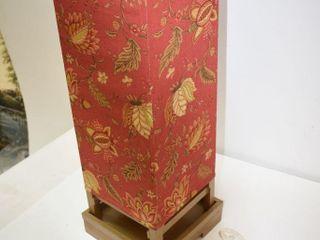 "Wood & Fabric Lamp 28"" X 8"" - works"