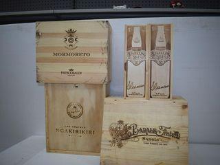 (3) Wine Crates & (2) Sleeman Bottle Crates