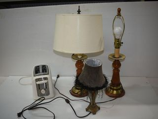 Toaster & Lamps-working