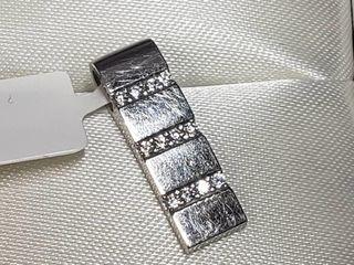 10K White Gold Cubic Zirconia Pendant  BK06 118
