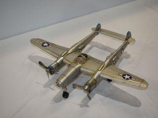 WWII Metal Airplane 14  X18