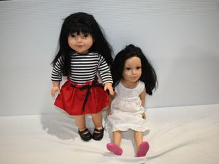 "(2) American Girl Style 18"" Dolls"