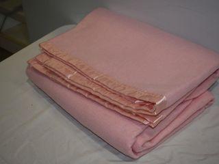 Esmond Polyester label Pink Blanket