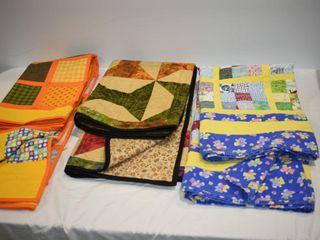 (3) Handmade Quilts