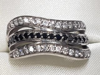 Silver Cubic Zirconia Ring (~Size 7.5)