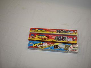 Topps Micro Baseball Cards (2) Sets 1991 (1) 1992