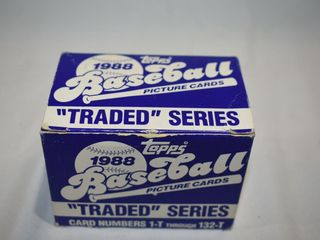 """1988 Topps Baseball """"traded"""" Series Set"""