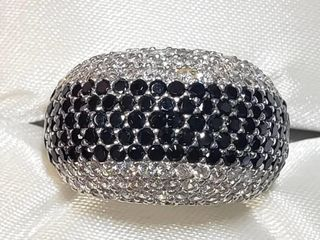 Silver Cubic Zirconia Ring (~Size 6.75)