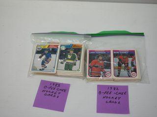 1982 83 O PEE CHEE Hockey Cards