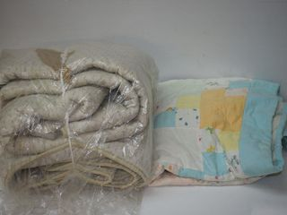 IKEA Queen Mattress Pad and Old Quilt
