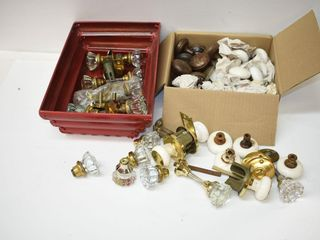 large Grouping of Porcelain and Glass Door Knobs