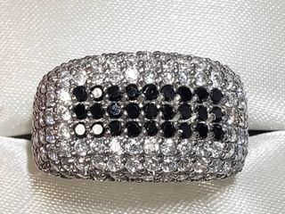 Silver Cubic Zirconia Ring (~Size 6.25)