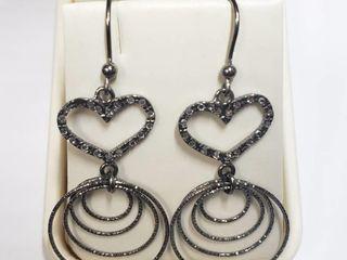 Silver Earrings  Size 5 8   BK06 129   D2