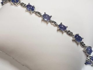 Silver Tanzanite 8ct  Bracelet  length