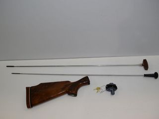 2 Cleaning rods  rifle stock