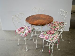 Vintage Ice Cream Parlour Table and Chairs